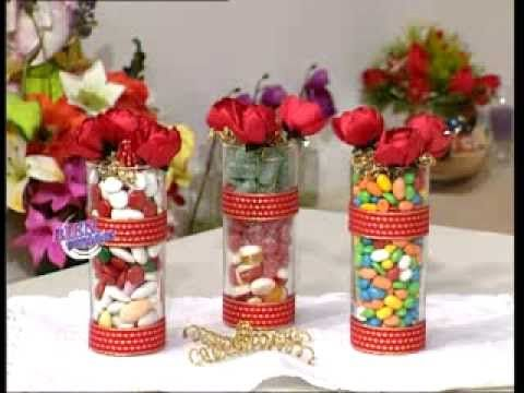 Hilda Rinaldi  - Bienvenidas TV - Explica como hacer rosas en tela para ...