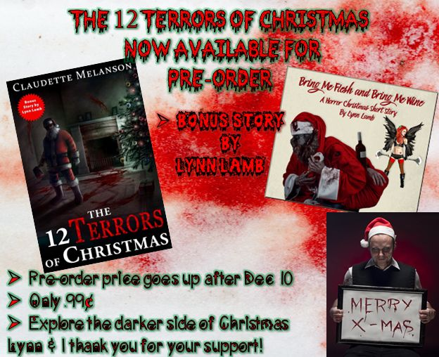 Pre-order your copy now for only $.99 Descriptions of each Terror on sale pages Order today, pay Dec 10 Price goes up to $3.50 on release A baker's dozen of stories to help you explore the darker side of Christmas Bonus story by Lynn Lamb & one Maura DeLuca tale Christmas served with a side of horror Amazon: http://amzn.to/2gvnTSB?utm_content=bufferc34fb&utm_medium=social&utm_source=pinterest.com&utm_campaign=buffer Smashwords…