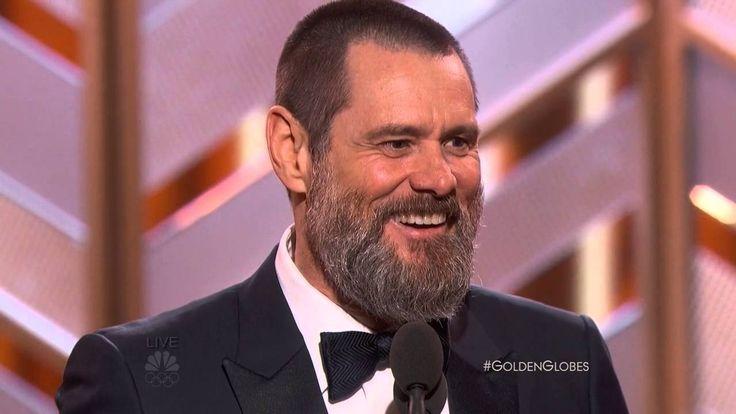 Funny and insightful! Jim Carrey Speech At The Golden Globe Awards 2016. HDTV