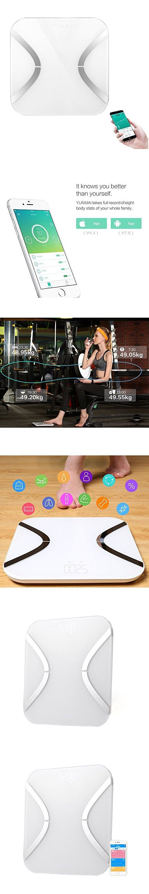 Body Fat Scale, FociPow Digital Body Weight Scale with Fitness APP & Step On Technology, 400 Pounds