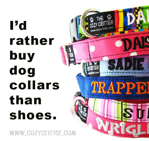 Fabric Dog Collars, Leashes, Harnesses in tons of different styles.