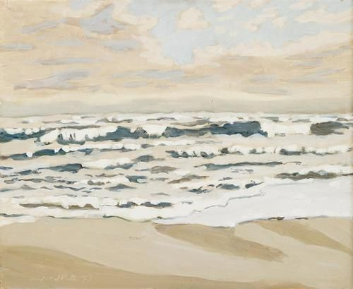 Fairfield Porter (American, 1907-1975), Morning after a storm, 1973. Oil on board, 18 x 22 in. (45.7 x 55.9 cm)