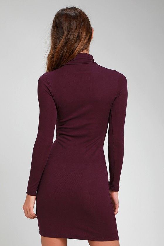 9c9cc65ef8ef Phenomenal Feeling Purple Long Sleeve Bodycon Dress in 2019