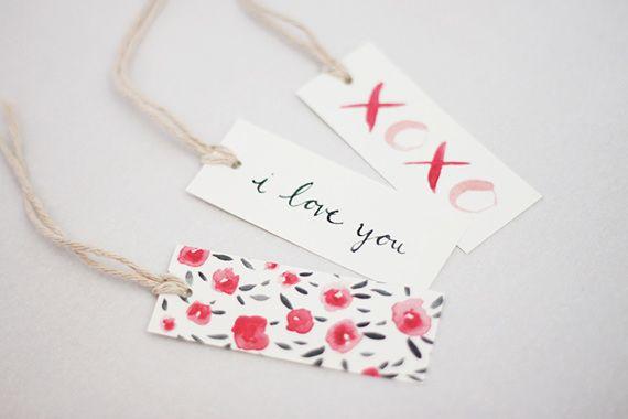 Free printable Valentine Tags.