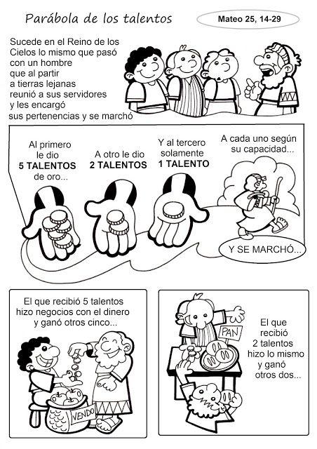 El Rincón de las Melli: HISTORIETA: La parábola de los talentos (texto ada...