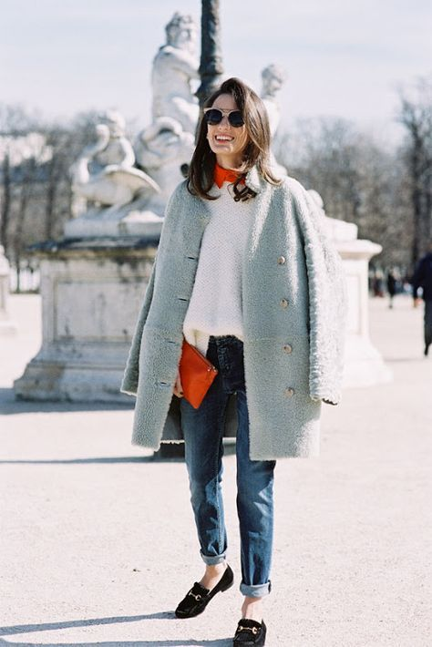spring, fashion, simple, style, jeans, coat, neck scarf