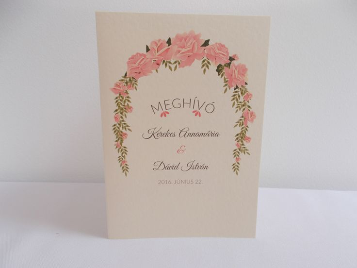vintage esküvői meghívó 03.1