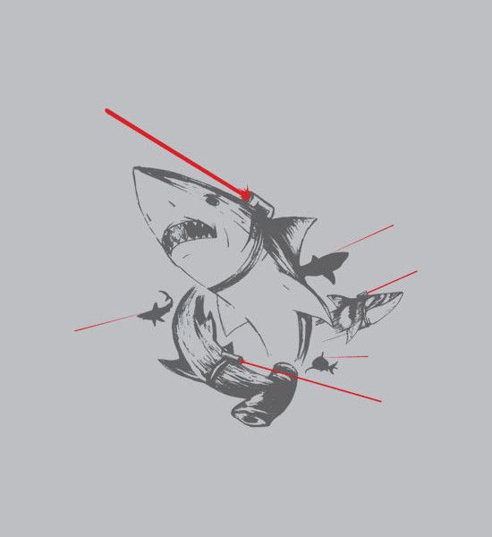 "The ultimate killing machine.  ""Sharks with Lasers""  Graphic t-shirt for men and women."