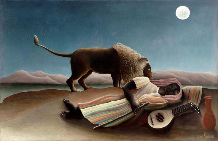 Zingara addormentata, 1897 -Henri Rousseau.