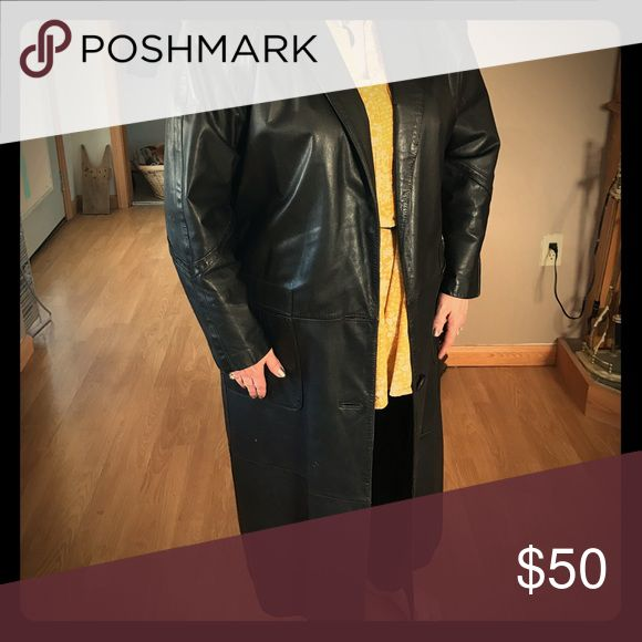 Maggie Lawrence leather trench coat Trench coat leather Jackets & Coats Trench Coats