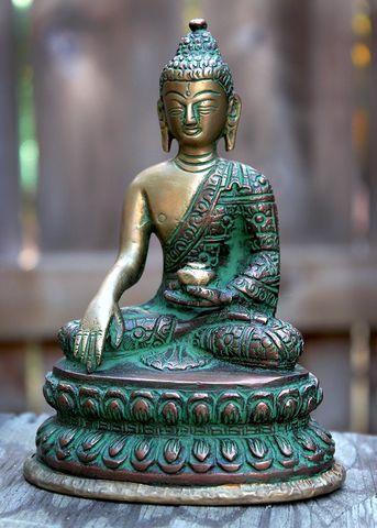 Sivana — Brass & Copper Medicine Buddha Statue