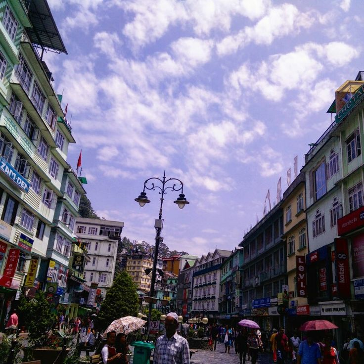 M G Marg Market at Gangtok