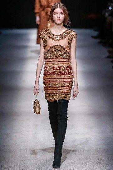 Vestito corto decorato Alberta Ferretti