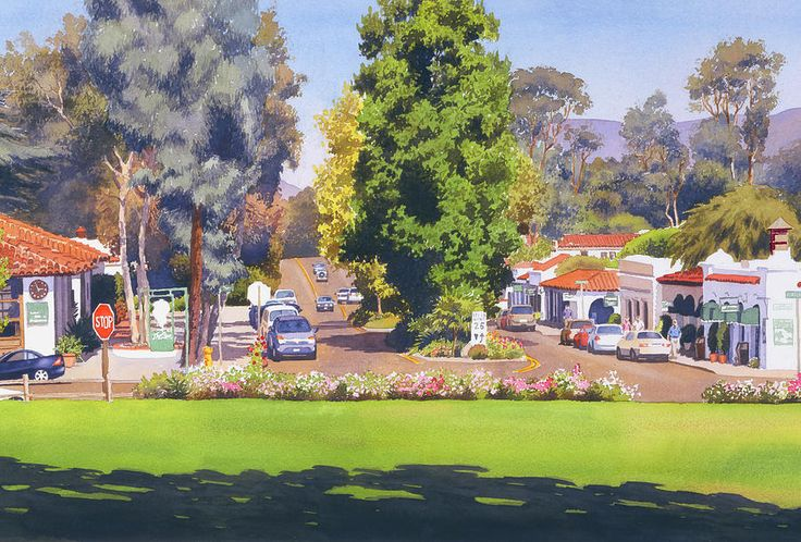 Rancho Santa Fe California Painting - Rancho Santa Fe California by Mary Helmreich