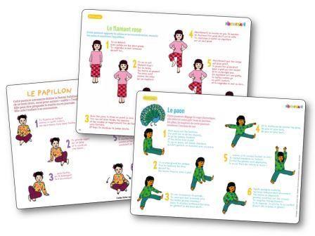 Fiche de yoga Pomme d Api image, relaxation maternelle