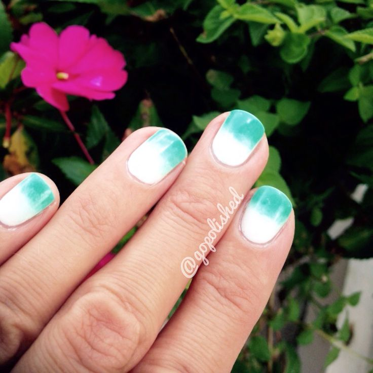 29 best go polished images on pinterest nail designs essie and summer nail gradient design using essie blanc and china glaze too yacht to handle prinsesfo Image collections