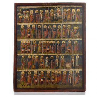 Icona russa antica Menologio di Ottobre XVIII sec | vendita online su HOLYART