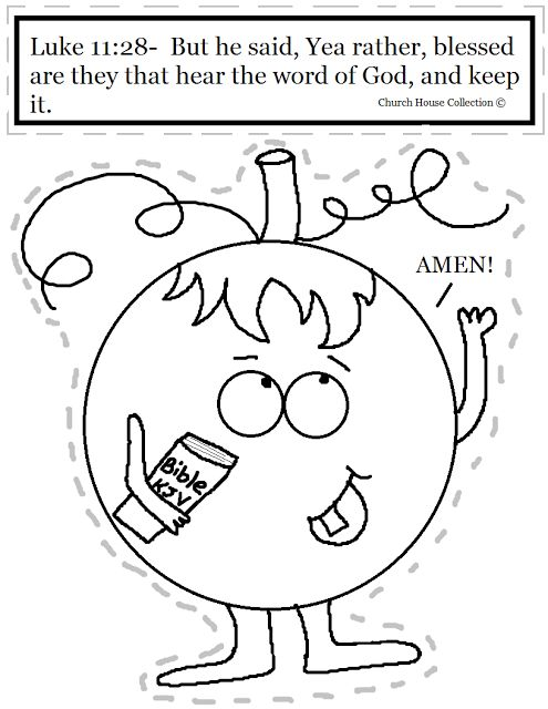 Church House Collection Blog Pumpkin Holding Bible Cutout Craft Sheet For Kids In Sunday School
