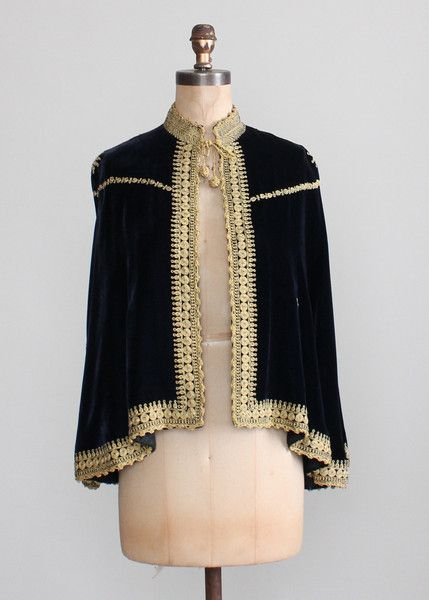 1930s Embroidered Velvet Palestinian Wedding Cape