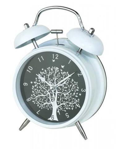 Vintage Tree Of Life White Alarm Clock - The Hippie House