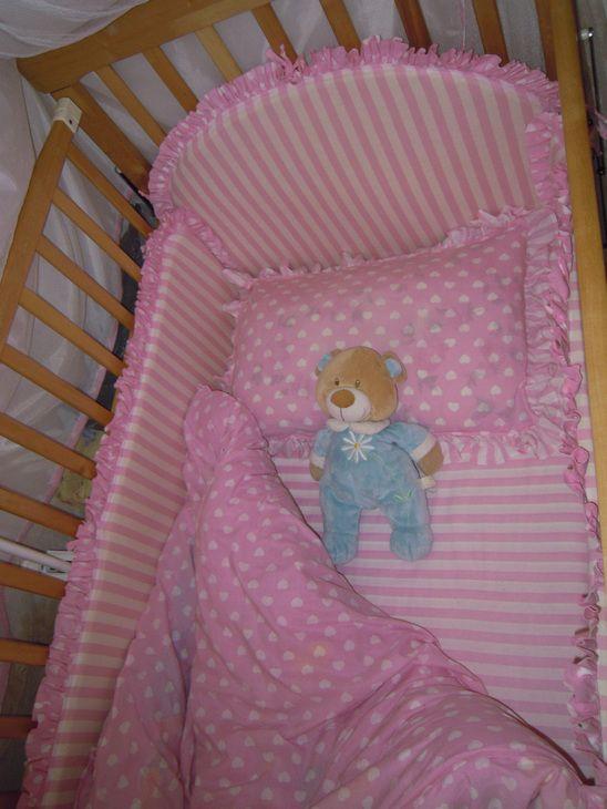 Шитье: постельное белье+бортики+балдахин для маленькой принцессы ФОТО #1