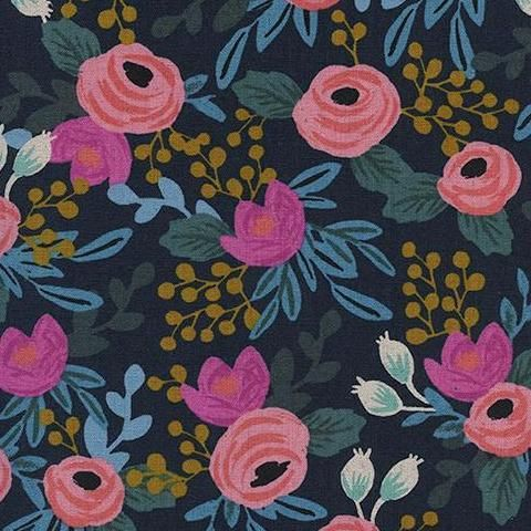 Menagerie - Canvas - Rosa Floral in Navy