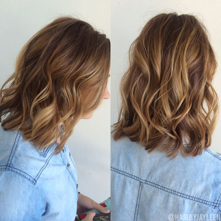Balayage Hair Natural Brown Balayage Short Haircolor