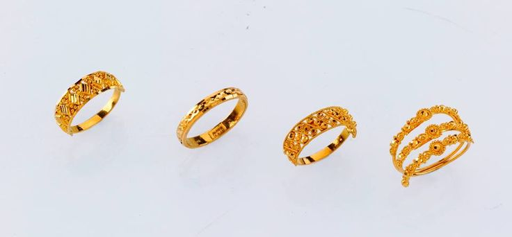 """""""Amazing Ladies Rings - only from the gold factory""""  a) 2.360 gm, Rs 7,540/- b) 2.050 gm, Rs 6,700/- c)2.250 gm, Rs 7,250/- d) 3.450 gm, Rs 11,000/-"""