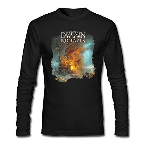 Pirates Of The Caribbean Dead Men Tell No Tales Tshirts Long Sleeve Black For Men @ niftywarehouse.com #NiftyWarehouse #PiratesOfTheCarribbean #Pirates #Movies #Pirate
