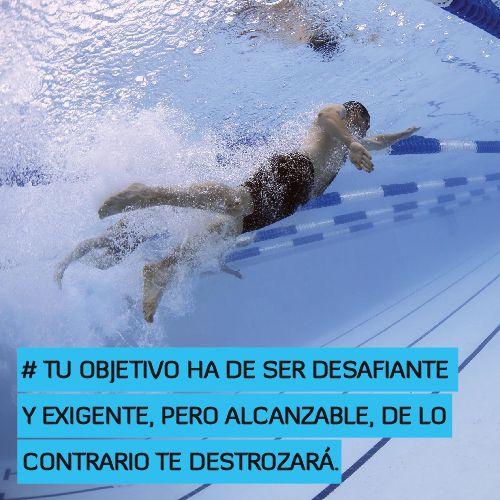 Tu objetivo ha de ser desafiante y exigente, pero alcanzable, de lo contrario te destrozará http://www.altorendimiento.com/cursos/curso-preparacion-fisica-de-natacion