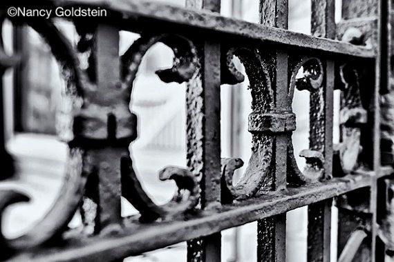 Photo black iron fence rusty texture Hill by #NancyGoldsteinPhoto #fpoe #photography