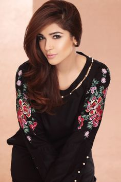 Pakistani Designer Dresses - Lowest Prices - Black Pearls and Embroidered Dress by Origins - Dresses - Latest Pakistani Fashion