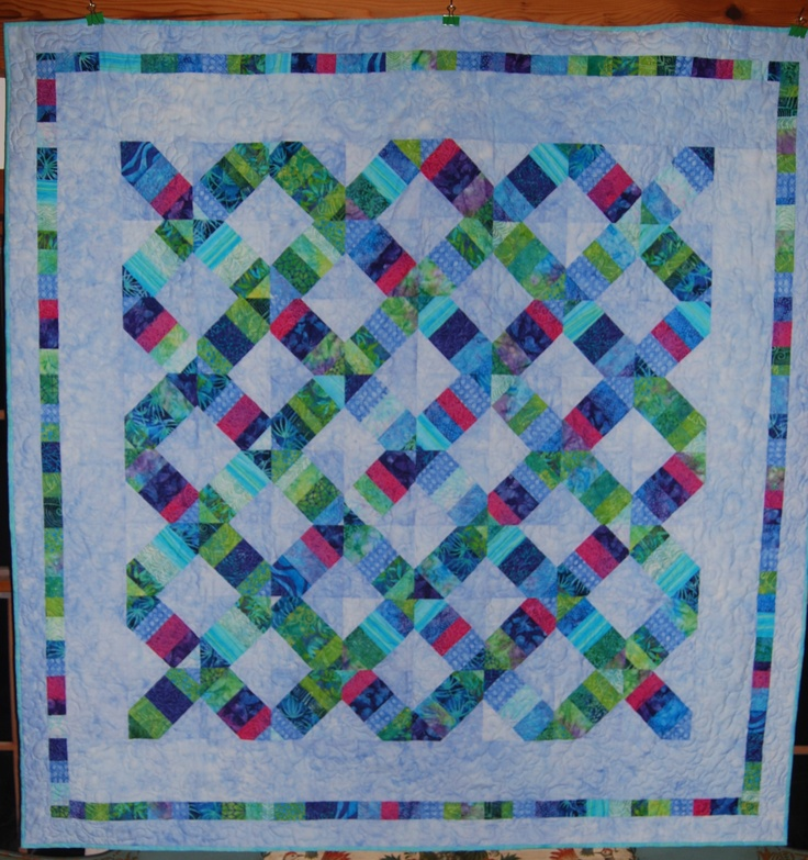 """string quilt by """"scrapykate"""" from the quiltingboard.com"""