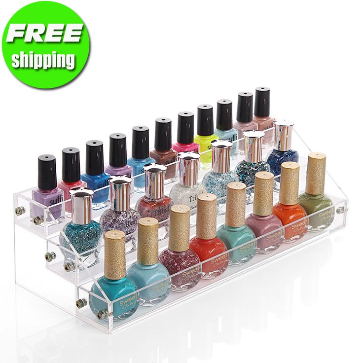 2014 nieuwe mode acryl make-up organizer nagellak nagellak display rack make-up opslag plastic doos gratis verzending
