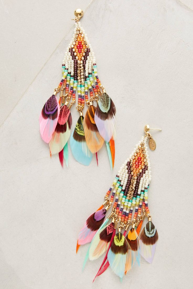 Quetzal Beaded Earrings | Anthropologie