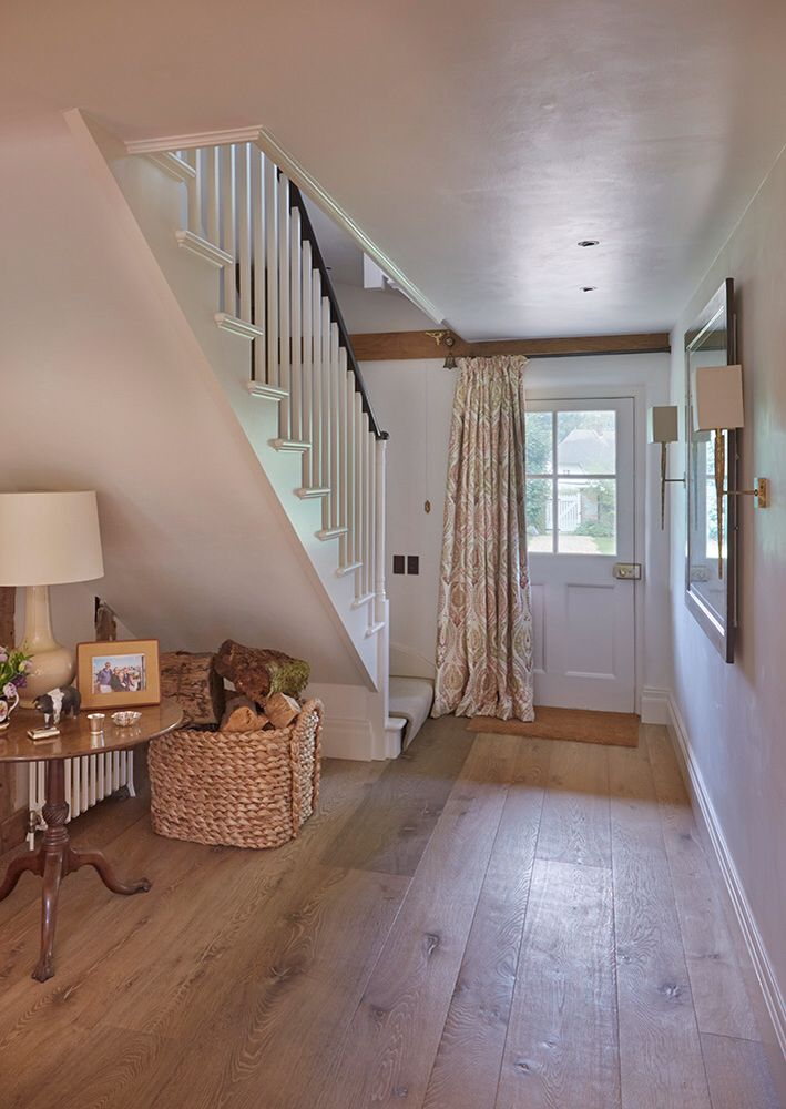 Rustic charm, this hall is stunning. #Woodfloors #Salisbury-wood-floors