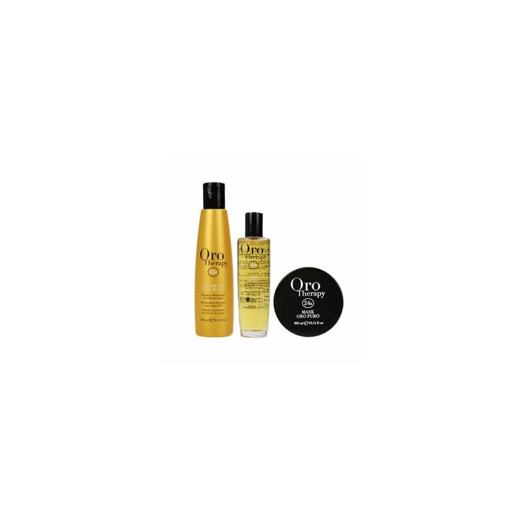 Fanola Oro Therapy 24K Luxury Hair Treatment Kit - Literally need this so bad! Best shampoo, oil & conditioner I've ever used!
