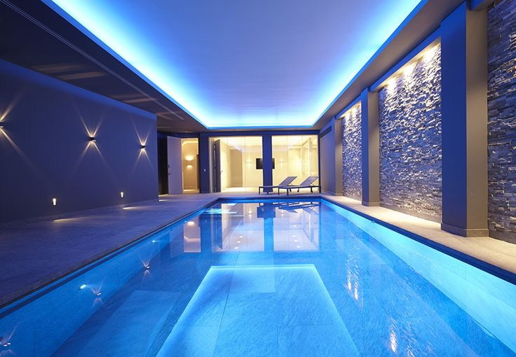 Colourful Basement Pool - London - Guncast Swimming Pools Ltd