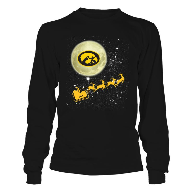 Iowa Hawkeyes - Football Sleigh Front picture  This t-shirt is a wonderful gift for you, your father, brother, sister, mother, grandfather, grandmother, aunt, uncle, fire boy, niece for parties, birthday, Father's Day, Thanksgiving, Christmas, New Year