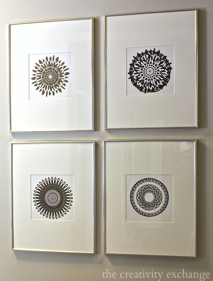 Free printable collection of modern black and white prints.  The Creativity Exchange
