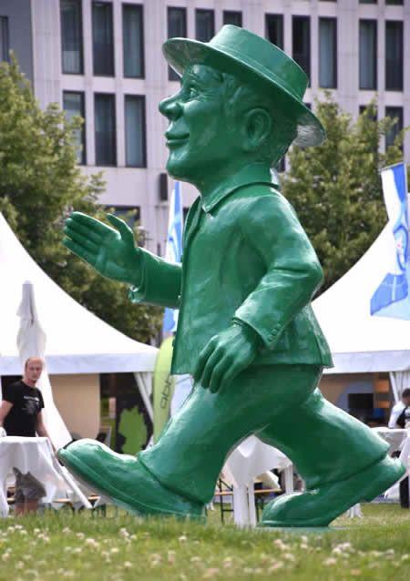 Berlin's 3.5 metre Ampelmann