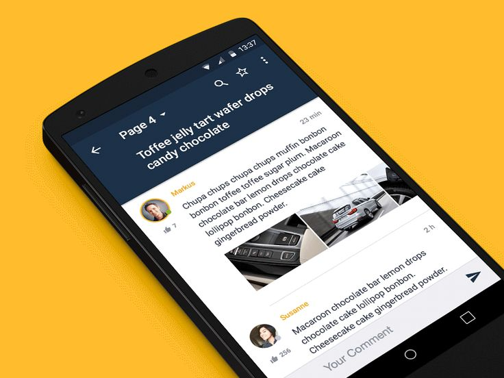 Thread Pager Material Design Mobile App