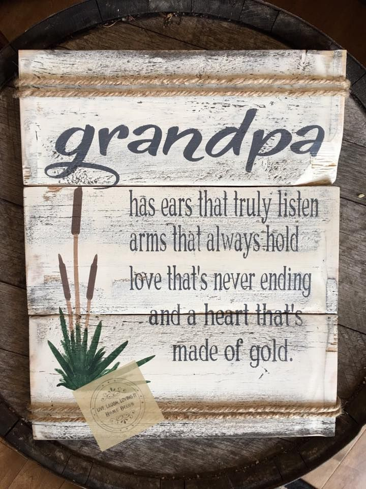 Grandpa sign made by Country Compass