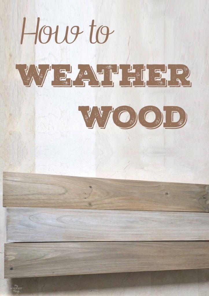 Cómo hacer el efecto de madera desgastada