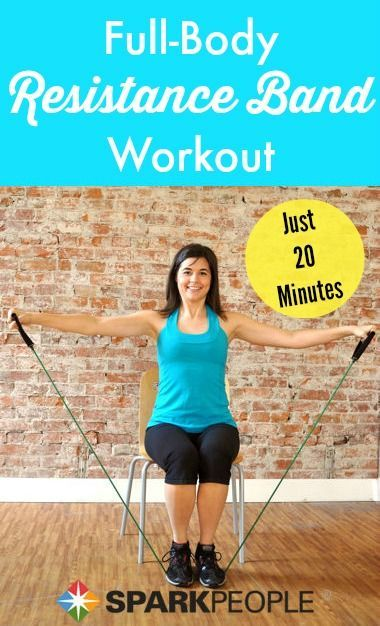 Resistance bands are the perfect equipment for travel #workouts! Take your gym on the go with this do-anywhere routine. | via @SparkPeople #workout #fitness #exercise #resistanceband #travelworkout