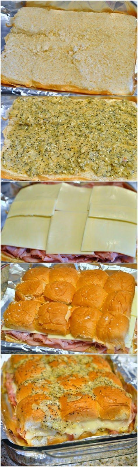 Amazing Stuffz: Mini poppy seed ham sandwiches on hawaiian sweet rolls