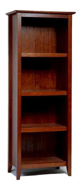 "Mission Shaker Craftsman Mahogany Bookcase 62"""