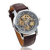 Men's Auto-Mechanical Hollow Engraving Brown ... – USD $ 21.99