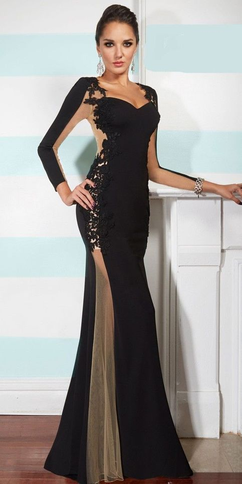2019 Prom Dresses Gorgeous black chiffon dress Prom dresses special occasion  dresses by PrettyLady 2d7f297af682