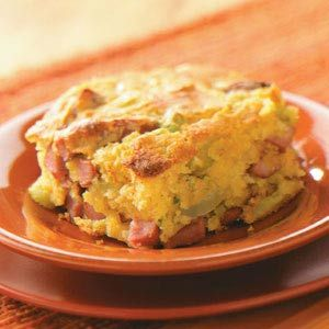 Corn Dog Casserole Recipe from Taste of Home -- shared by Marcy Suzanne Olipane, Belleville, Illinois